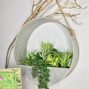 Metal Wall hanging decor with succulents